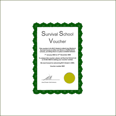 Survival School Voucher £10