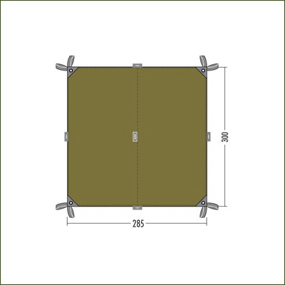 Tatonka Tarp 2 Dark Green - 3m x 2.85m