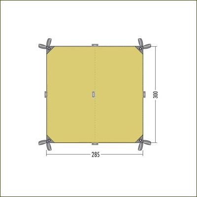 Tatonka 2TC Tarp Cocoon Green - 3m x 2.85m