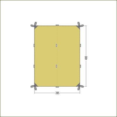 Tatonka 4 TC Tarp Cocoon Green - 4m x 2.85m