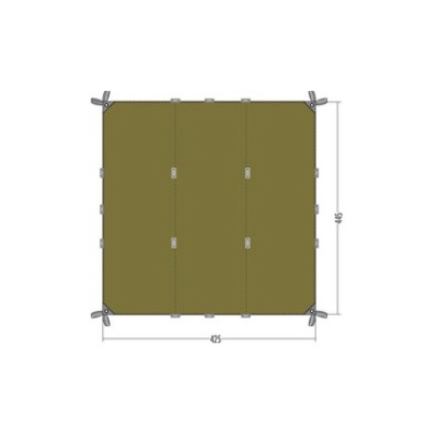 Tatonka Tarp 1 Dark Green - 4.45m x 4.25m