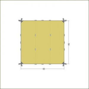Tatonka Tarp 1TC Cocoon Green  - 4.45m x 4.25m
