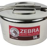 zebra-head-14cm-round lunch box