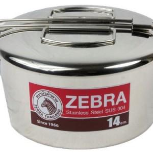zebra-head-14cm-round lunch box
