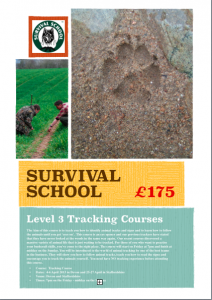 Survival School Level 3 Tracking Courses